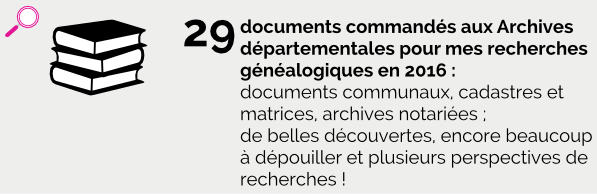 30 documents commandés aux Archives en 2016